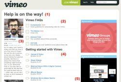 Vimeo Help Page